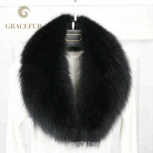 High-end detachable fur collar trim