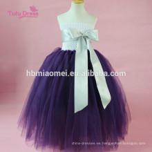Cintas Tulle Pageant Tutu Dress Baby Kids Girls Wedding Evening Gowns Dress Fiesta de cumpleaños Princesa Vestido de traje