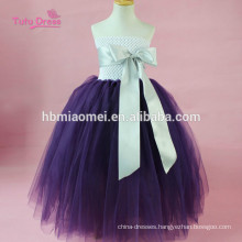Ribbons Tulle Pageant Tutu Dress Baby Kids Girls Wedding Evening Gowns Dress Birthday Party Princess Dress Costume