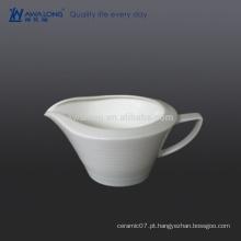 400ml grande capacidade White Gravy Bowl, porcelana Gravy Bowl vender bem no país ocidental