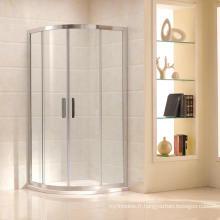 Douche de salle de bain avec porte coulissante pour verre trempé 10mm