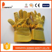 Vaca Split mejor guantes adecuados para los trabajos resistentes duros Dlc203