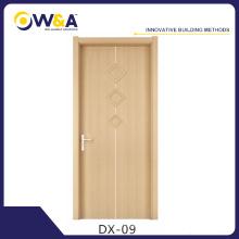 Fabricant chinois à prix bon marché intérieur WPC moulé portes