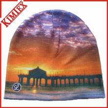 Cuffless Beanie Sublimation Printing Knitted Cap