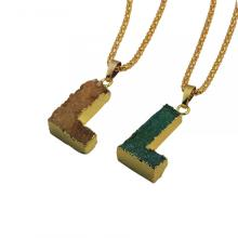 Colorful Crystal Alphabet Letter L Pendant Necklace