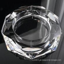 Runder Glaskristall-Zigarrenaschenbecher für Hotel-Dekoration (KS13031)