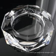Cenicero de cristal redondo del cigarro de cristal para la decoración del hotel (KS13031)
