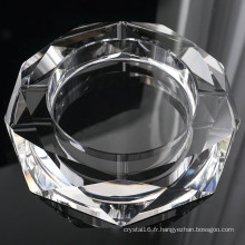 Cendrier en verre rond de cigare en cristal pour la décoration d'hôtel (KS13031)