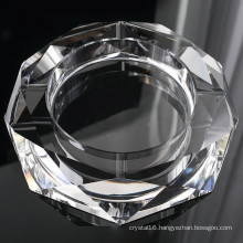 Round Glass Crystal Cigar Ashtray for Hotel Decoration (KS13031)