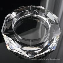 Круглый стеклянный Кристалл сигары Пепельница для украшения гостиницы (KS13031)