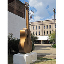 large outdoor sculptures metal craft bronze guitar sculpture