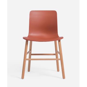 популярный пластиковый стул с буковой ножкой и подставкой для ног