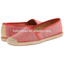 Portable lady casual shoe china women espadrille shoe