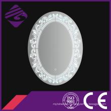Jnh226 Accueil vente chaude ovale salle de bains meubles miroir avec horloge