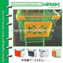 Тележка рекламная доска для магазинов, рекламные щиты для продажи, рекламные щиты для торговых тележек
