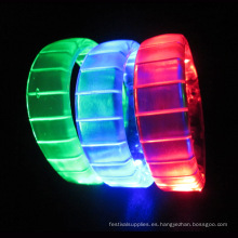 Pulseras LED parpadeantes para favor de fiesta