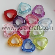 9*25*28MM Clear Transparent Colorful Acrylic Crystal Heart Charm Beads Purchase