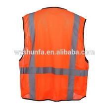 Sicherheit Roadway Gelbe Mesh Abnehmbare Tear Away Zipper Amercian EN20471 Klasse 3 Hohe Sichtbarkeit Reflektierende Sicherheitsweste