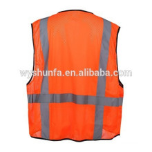 Security Roadway Yellow Mesh Detachable Tear Away Zipper Amercian EN20471 Class 3 High Visibility Reflective Safety Vest