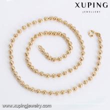 43820 Atacado moda feminina jóias design simples banhado a ouro contas colar de corrente