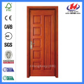 *JHK-010 6 Panel Wood Doors Double Wooden Doors Latest Veneer Door Designs