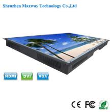 Quadro aberto de formato grande Monitor de tela de toque brilhante de 55 polegadas com porta USB