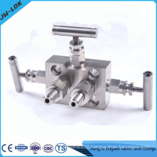 3 way manifold, pressure gauge manifold