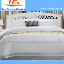 High Quality Embroidery Duvet Cover Set with Zipper Style