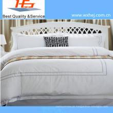 Conjunto de capa de edredon bordado de alta qualidade com estilo de zíper