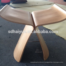 Classical design plywood leisure chair butterfly stool hotel chair