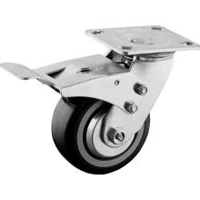 Heavy Duty 400 Lbs Capacity Full Lock Plate Casters