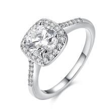 Diseño elegante del anillo del platino del Zircon de la manera para la boda de las mujeres