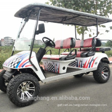 Carro de golf de cuatro plazas con motor de gas