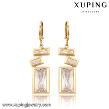 91315-Xuping Fashion Rectangle Design spécial Drop boucles d'oreilles bijoux avec cristal
