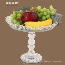 faveur de mariage design populaire plateau de fruits en cristal élégant avec support