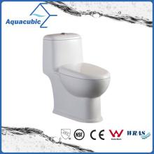 Siphonic One Piece Dual Flush Ceramic White Toilet (ACT8823)