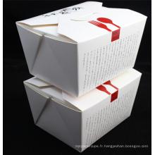Catégorie comestible de passage écologique, boîte de nouille de papier imprimée par coutume de vente chaude