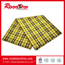 High grade 100% Polyester colorful grid reflective Fabric