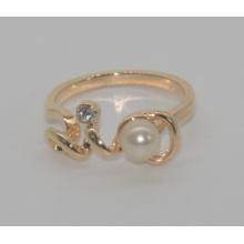 Perla de San Valentín con anillo de amor de diamantes (XRG12460)