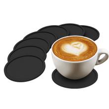 Práctico de costa antideslizante cuadrado redondo de encargo de la taza de café del silicio