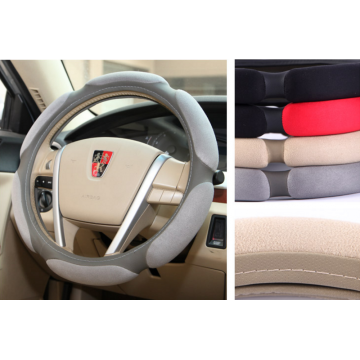 OEM China High quality for Sandwich Steering Wheel Cover Sandwich Suede Fabric steering wheel cover supply to Kenya Supplier