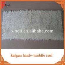 Cor natural kalgan placa de pele de cordeiro