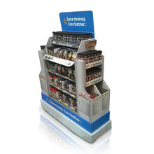 Drei Seiten Werbe-Karton-Display, Point of Sale Paletten-Display
