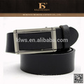 Formal excellent quality black automatic buckle wide leather belt