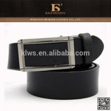 Cinturón de cuero ancho de la calidad formal excelente negro automático de la hebilla