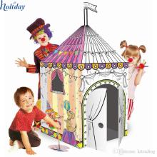 Playhouse de papelão DIY para crianças