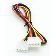 Chicote de fios de fio elétrico da fonte de alimentação de 4pin Molex