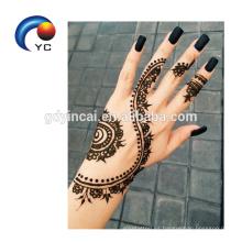India Henna Style India Personality Henna Body Tatuaje Temporal Stenicls