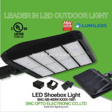 2017 New deisign led shoebox dlc retrofit led for shoebox high brightness 400w parking lot led lights