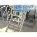 Escada rolada de aço galvanizado, escada de grade de aço galvanizado, piso de grade de aço da indústria